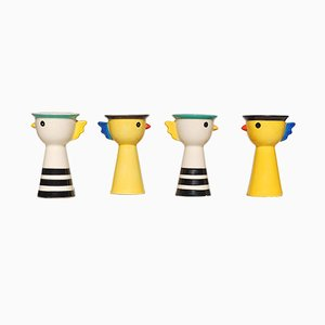 Memphis Style Egg Cups, 1980s, Set of 4