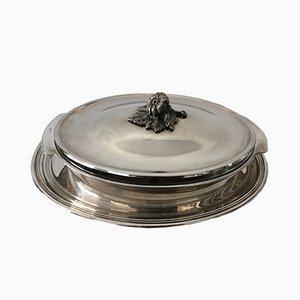 Piatto vintage in argento massiccio, Francia