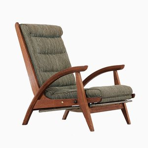 Fauteuil Inclinable FS 134 par Guy Besnard pour Free Span, 1954