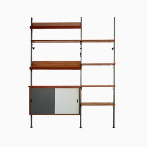 Mid-Century Teak Wall System by Olof Pira for String