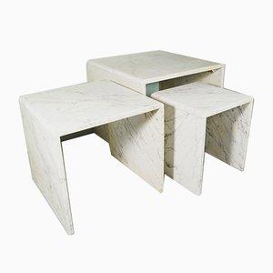Mesas nido de mármol, años 60