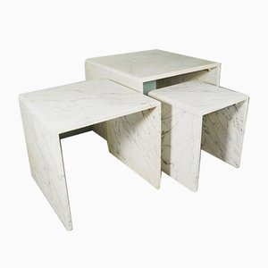 Tavolini ad incastro in marmo, anni '60
