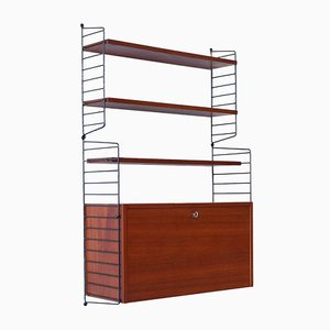 Mid-Century Teak Shelving System by Nisse Strinning for String