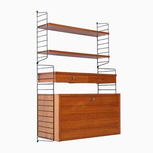 Mid-Century Wall Unit by Kajsa & Nils Nisse Strinning for String