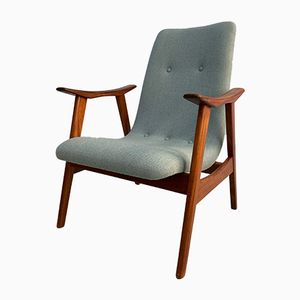 Vintage Teak Armchair by Louis van Teeffelen for WéBé, 1960s