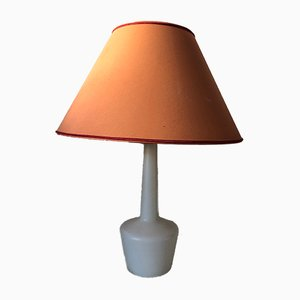 Mid-Century Scandinavian Opaline Glass Table Lamp