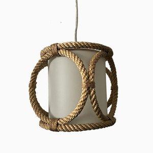 Lampada vintage in corda di Audoux & Minet, Francia, anni '60