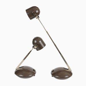 Lampes de Bureau Télescopiques Vintage de Eichhoff, 1970s, Set de 2