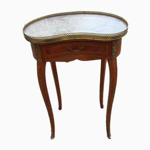 Table de Chevet Vintage en Forme de Haricot