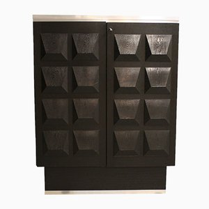 Brutalist Diamond Bar Cabinet, 1970s