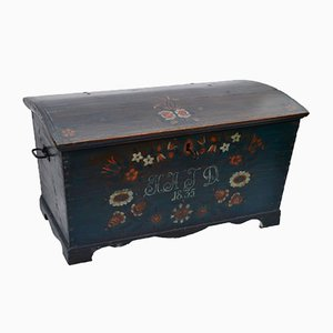 Antique Swedish Wedding Chest, 1835