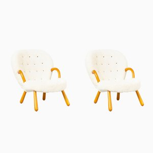 Clam Chairs by Phillip Arctander, 1940s, Set of 2
