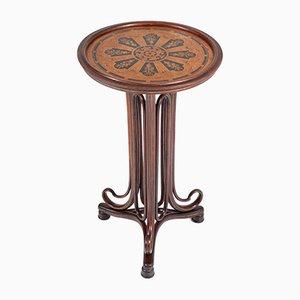 Tavolo Art Nouveau in legno di faggio curvato di Thonet, fine XIX secolo
