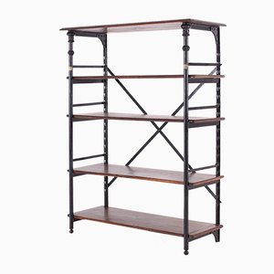 Antique Industrial Steel Shelving Unit by Théodore Scherf