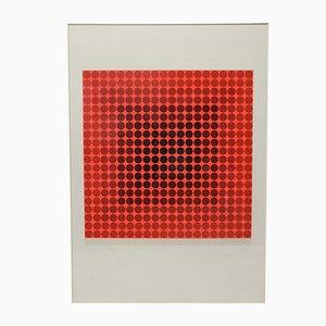 Biombo de seda de Victor Vasarely, años 70
