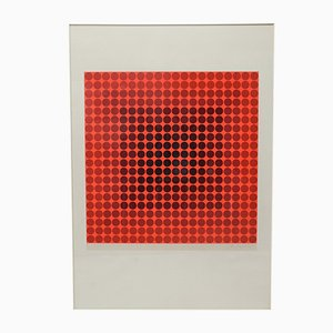 Silk Screen Print by Victor Vasarely, 1970s