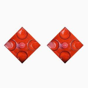 Wandlampen aus Keramik von Hustadt Leuchten, 1960er, 2er Set