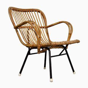 Sessel aus Rattan von Rohé Noordwolde, 1960er