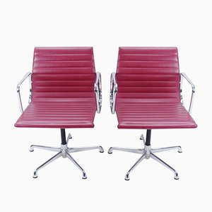 EA107 Armchairs by Charles & Ray Eames for ICF, 1970s, Set of 2