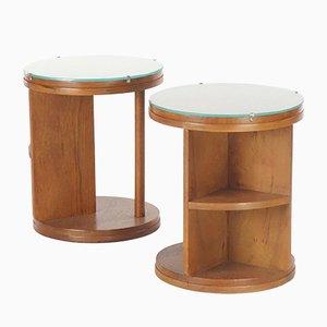 Tavolini Art Déco, anni '30, set di 2
