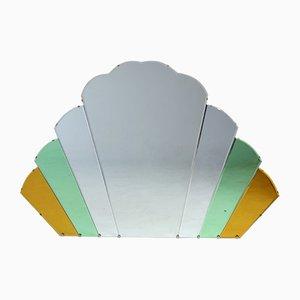 Specchio grande Cloud Art Déco a ventaglio, anni '30