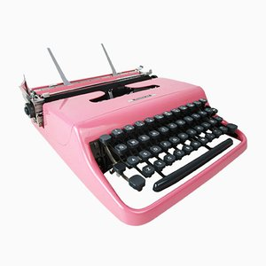 Princess Pink Pen 22 Typewriter from Olivetti, 1960s