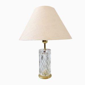 Lampe de Bureau en Cristal par Olle Alberius pour Orrefors, 1970s