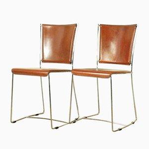 Italienische Vintage Beistellstühle, 1970er, 2er Set