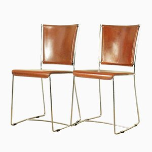Vintage Italian Side Chairs, 1970s, Set of 2