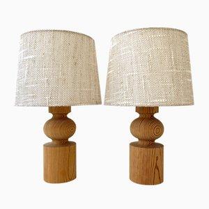 Lampade da tavolo Pinus di Östen & Uno Kristiansson per Luxus, anni '70, set di 2