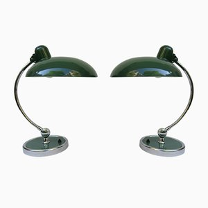 Green President Desk Lamps by Christian Dell for Kaiser Idell, 1930s, Set of 2