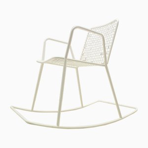 Vintage Indoor or Outdoor Wire Mesh Rocking Chair, 1960s