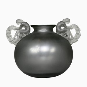 Gray Glass Bouchardon Vase by René Lalique, 1926