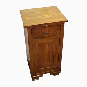 Walnut Bedside Cabinet with Brushing Slide, 1910s