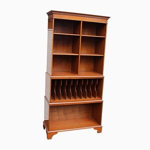 Open Front Walnut Shelving Unit, 1960s