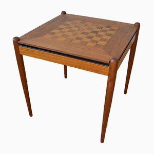 Tavolo da gioco Mid-Century in teak, Danimarca, anni '60