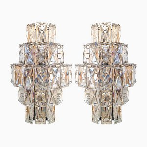 Large German Wall Sconces from Kinkeldey, 1960s, Set of 2