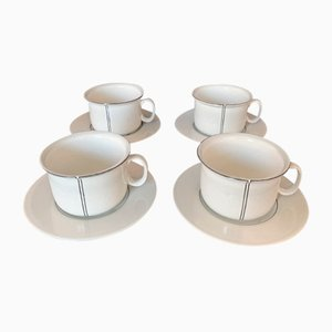 Demi Teacups by Stig Lindberg for Gustavsberg 1970s, 1978, Set of 4