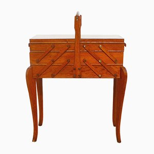 Mobiletto o cassetta per gli attrezzi Mid-Century in legno, Francia