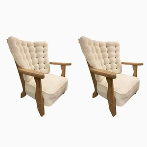 Vintage Armchairs by Guillerme et Chambron, Set of 2
