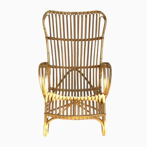 Vintage Rattan Lounge Chair from Rohé Noordwolde, 1960s