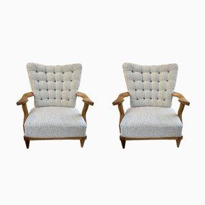 Vintage Armlehnstühle von Guillerme et Chambron, 2er Set