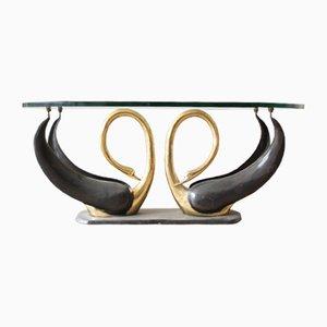Mesa de centro Swan de Maison Jansen, años 70