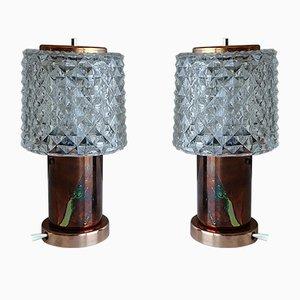 Vintage Tischlampen von Kamenický Šenov, 1960er, 2er Set