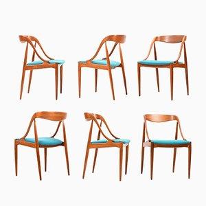 Chaises de Salle à Manger Modèle 16 en Teck par Johannes Andersen pour Uldum Møbelfabrik, 1960s, Set de 6