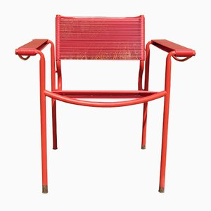 Italian Red Spaghetti Chair by Giandomenico Belotti for Alias, 1980s
