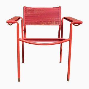 Roter italienischer Spaghetti Stuhl von Giandomenico Belotti für Alias, 1980er