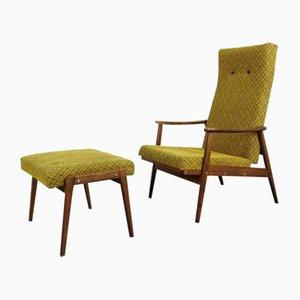 Vintage Sessel mit Ottomane