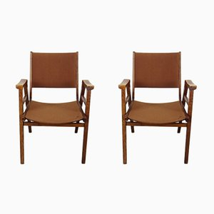 Vintage Stacking Chairs, Set of 2