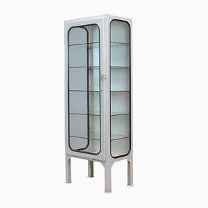 Mueble médico vintage con cinco estantes de vidrio, 1975
